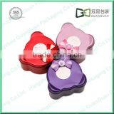 Beautiful panada shape wedding candy tin box with butterfly knot