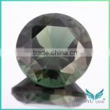 Wholesale Round Synthetic Spinel Dark Green Spinel 152#