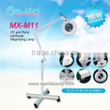 Skin Examination Floor Magnifying Reading Portable Lamps;5Diopter Magnifier Acrylic Len;LED Bulb Moveable