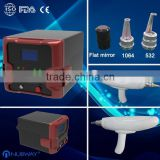 2014 Most popular Nd yag Q-switch laser tattoo removal/ Professional high energy laser tattoo remvoal machine