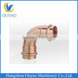 Good Quality Copper Compression 90 Degree Elbow Fittings With O Ring