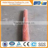 high quality plastic mesh net or plastic orange safety net with Anping supplier