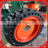China cheap28x9-15 8.15-15 solid tire for sale bobcat skid steer solid tires14.00x24 14.00-24 17.5x25 17.5-25 with factory price