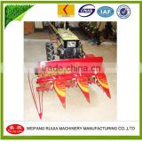 Shandong China Factory Diesel power tiller 1200MM,1300MM,1500MM Rice &Wheat Mini Harvester