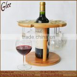Carbonized color bamboo wine glass rack