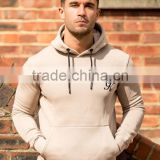 Tapered Men's Gym Hoodie 70% Cotton 30% Polyester Pullover Hoodie Jacket with Fleece Lining High Quality Tracksuit Tops OEM