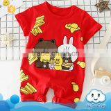 SR-313B high quality unisex baby clothes bear white rabbit pattern pajamas cotton romper