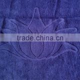 Embroidery custom logo 50*100cm dark color terry 100cotton hotel/swimming plain dyed bath towels