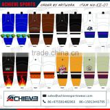 custom cheap reversible ice hockey sports sock in 100% polyester for jumpsuit men on sale