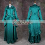 renaissance green medieval female's dress cosplay costume custom made