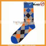 mens colours socks new argyle design soft -fit 100 prs mix colour hot selling socks for sale comfortable socks cotton