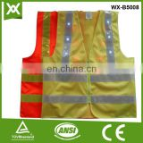 CE fabric 14/16 led lights flashing many colors reflective recharge LED safety vest