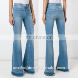 Instyle new arrival long bell-bottoms ladies latest design denim new pattern jeans pants
