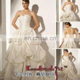 1569 Ivory and Pink elegant high quality wedding dress(bridal dress) MOQ one piece wedding gown factory evening dinner dress