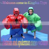 Batman and spiderman sumo costume
