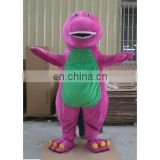 Barney fur costume/plush costume/ fur character shape/plush toys/plush replica/party costume/ /plush garment/mascot