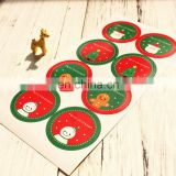 sealing sticker ornament gift box card bag posted envelope decoration christmas stickers