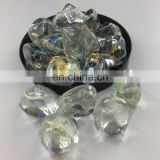 Diamond nuggets fire glass