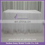 TC091#605 white fancy wedding table cloths