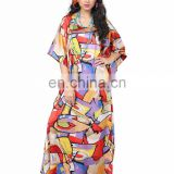 Modern Style Colourful Printed Ankle Length Kaftan / Fashinable Daily Wear High Quality Kaftan / Dubai Kaftan (kaftans 2017)