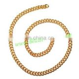Gold Plated Metal Chain, size: 1x3mm, approx 62.1 meters in a Kg.