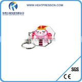 Fashion clear heart plastic key ring for sublimation