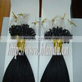 High quality Malaysian Micro loop ring hair extension,silk straight wave