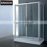Foshan Prefab Block Glass Bathrooms Designs Shower Room K-7507