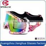 Shatterproof spherical dual motorsport wear high impact anti scratches motor cycle skating goggle