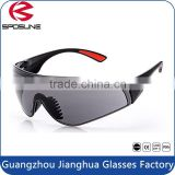 China manufacturers wholesale industrial grey anti uv lens en166 safety glasses with soft rubber nose padded