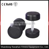 hot sale /sports fitness / Fixed Black Rubber Dumbbell/TZ-3002/Rubber coated fixed dumbbell Fitness accessories