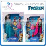 Mini Qute Kawaii movable joints Plastic cartoon Frozen doll Frozen princess anna & elsa olaf with Cosmetics girls children toys