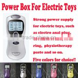 Electro sex toys power box, Health Care Electrotherapy power supply, Electrical dildo/anal plug/Urethral Sound Power source