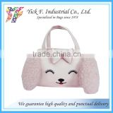 Cute Dog head shape PVC Handbag for girls