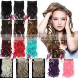 Miss U Hair Smooth Soft Synthetic Bulk Hair Long Wavy Curly clip in hair extension piece for women W003