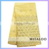 2015 Mitaloo Best Price African George Lace /Odm Indian Raw Silk George Fabrics For Party