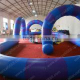 inflatable race track 15x6m inflatable sport for ATV cars