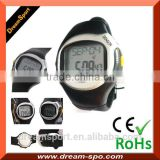 Water resistant finger sensor heart rate watch pulse digital slap wrist watch
