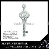 925 silver jewelry rhodium plated jewelry accessories silver key pendant