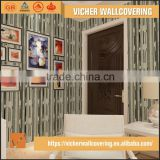 Classic Stripe Style Style PVC Material Top Quality Latest Design Modern Decorative Wallpaper