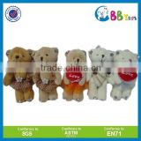 Customized stuffed plush keychain with logo and wholesale promotion teddy bear keychain toys