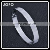 Simple Fashion Vintage Charming Lady 304 Stainless Steel Leaf Pattern Bangle SMJ0060