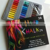 2013 most populary hot selling 12/24 colors hair chalk & Non-toxic Temporary Pastel Hair Dye Color Chalk