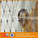 2mm rope wire Flexible stainless steel woven zoo mesh fence