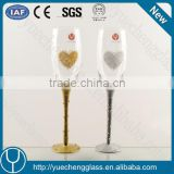 Shanxi wedding decoration champagne glass in color box wholesale