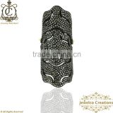 Full Finger Diamond Pave Ring, Diamond Pave Ring, 925 Sterling Silver Diamond Fashion Ring, Silver Jewelry Wholesaler