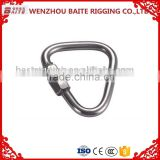 Rigging Hardware Stainless Steel Triangle Zinc Plated Delta Shaped Quick Link For Wire Rope