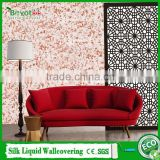 3D wallpaper natural fiber wall covering antistatic fiber decor wall coating