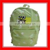 High Quality Products Bros White Badminton Rackets Pattern Printed Light Green Canvas Backpack