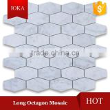 Oriental White Marble Long Octagon Mosaic Tile